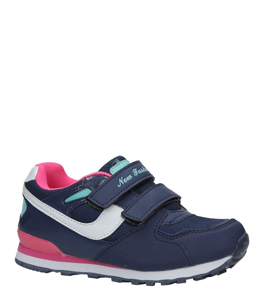 Granatowe buty sportowe na rzepy Casu FA325L