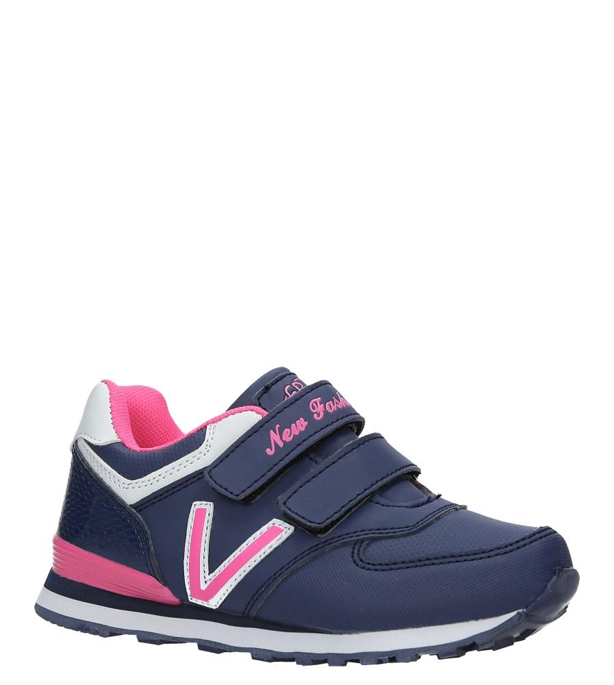 Granatowe buty sportowe na rzepy Casu FA334N