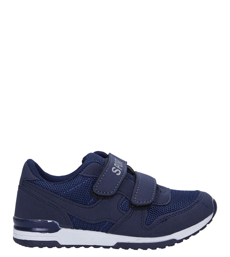 Granatowe buty sportowe na rzepy Casu HB-201A
