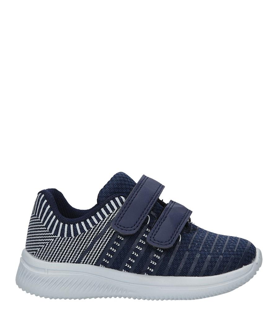 Granatowe buty sportowe na rzepy Casu HY-L06