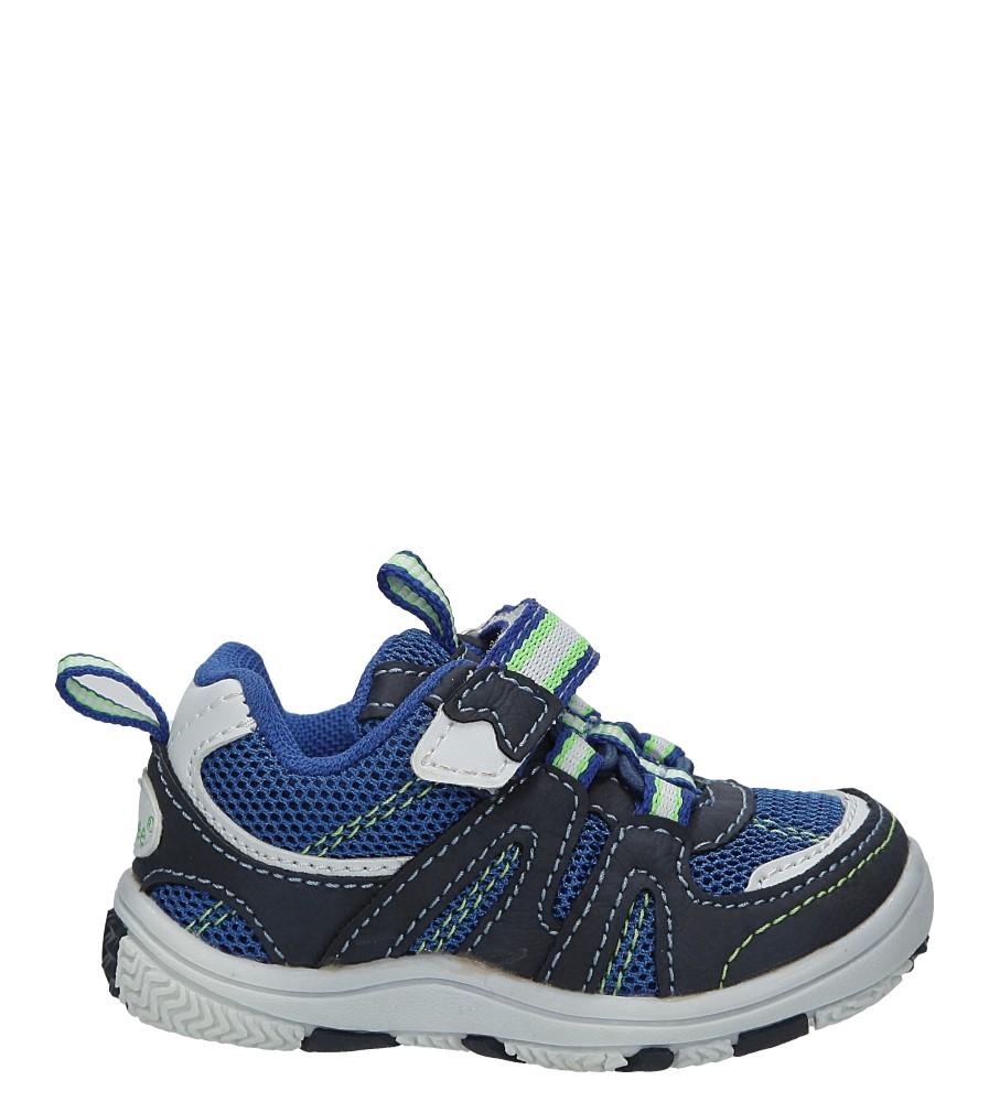 Granatowe buty sportowe na rzepy Casu K-628