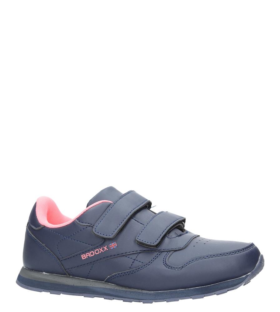 Granatowe buty sportowe na rzepy Casu LXC7383