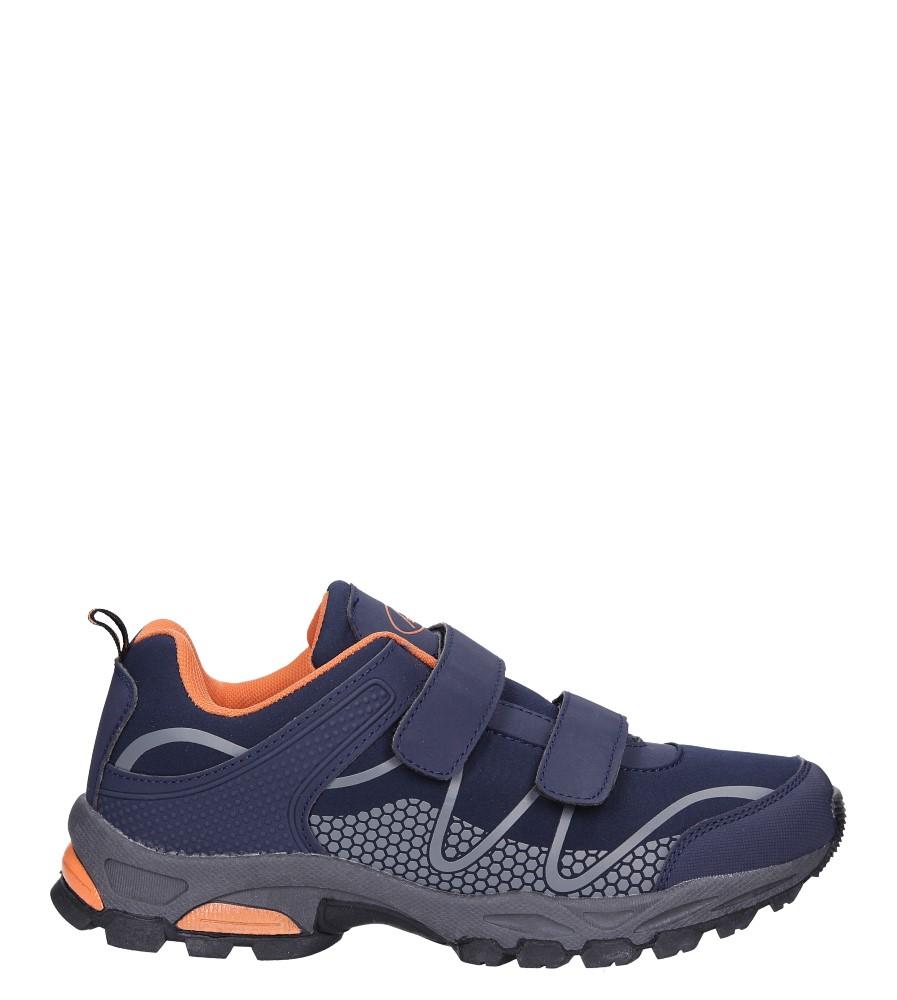 Granatowe buty sportowe na rzepy softshell Casu A1529B-2