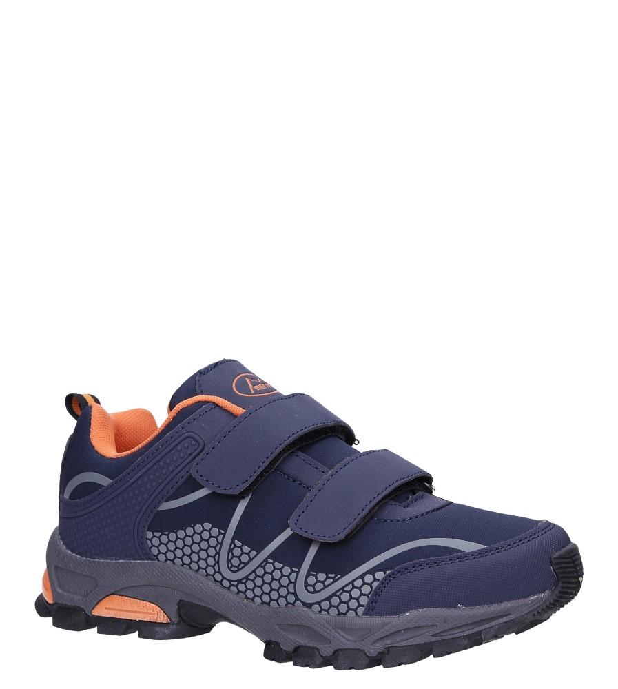 Granatowe buty sportowe na rzepy softshell Casu B1529B-2 model B1529B-2