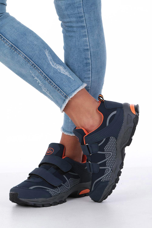 Granatowe buty sportowe na rzepy softshell Casu B1529B-2 wysokosc_obcasa 3.5 cm