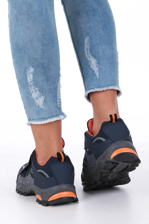 Granatowe buty sportowe na rzepy softshell Casu B1529B-2 wysokosc_platformy 1 cm