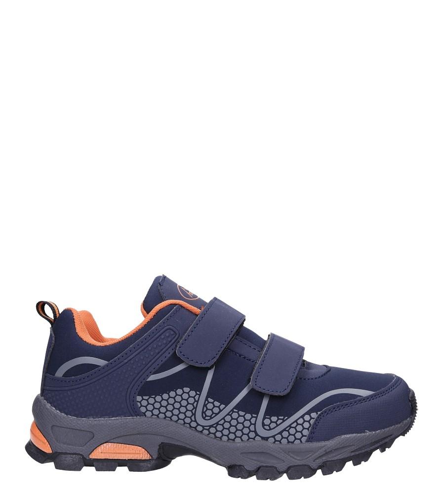 Granatowe buty sportowe na rzepy softshell Casu B1529B-2 wys_calkowita_buta 12.5 cm