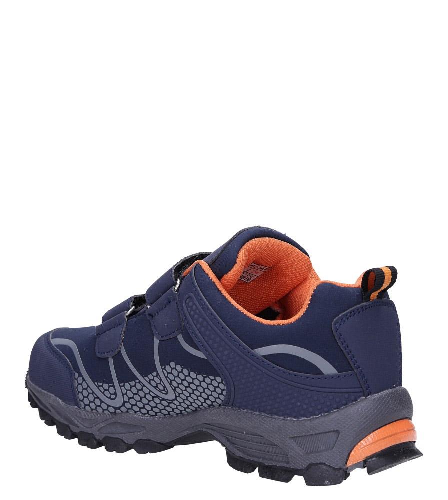 Granatowe buty sportowe na rzepy softshell Casu B1529B-2 wierzch skóra ekologiczna