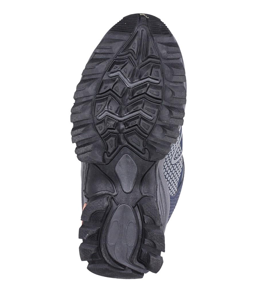 Granatowe buty sportowe na rzepy softshell Casu B1529B-2 wkladka materiał