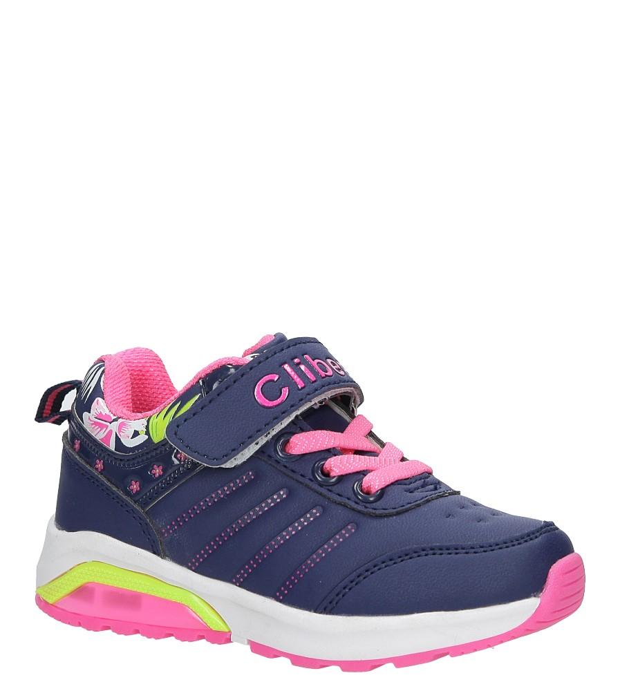 Granatowe buty sportowe na rzepy ze skórzaną wkładką Casu  F-622