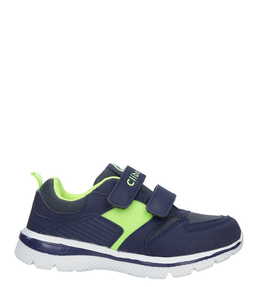 Granatowe buty sportowe na rzepy ze skórzaną wkładką Casu K-219