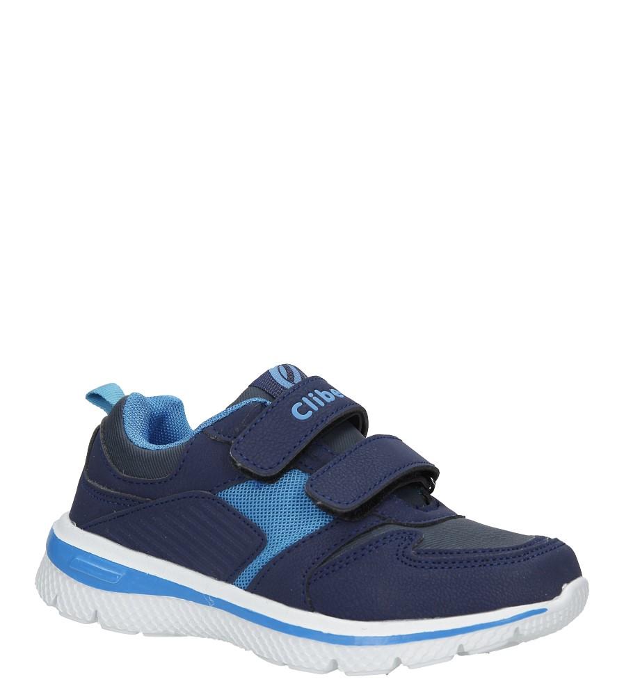 Granatowe buty sportowe na rzepy ze skórzaną wkładką Casu K-219 producent Casu