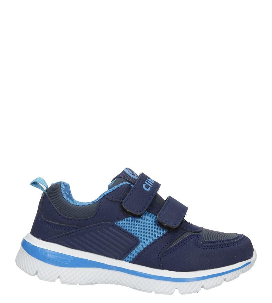 Granatowe buty sportowe na rzepy ze skórzaną wkładką Casu K-219 model K-219