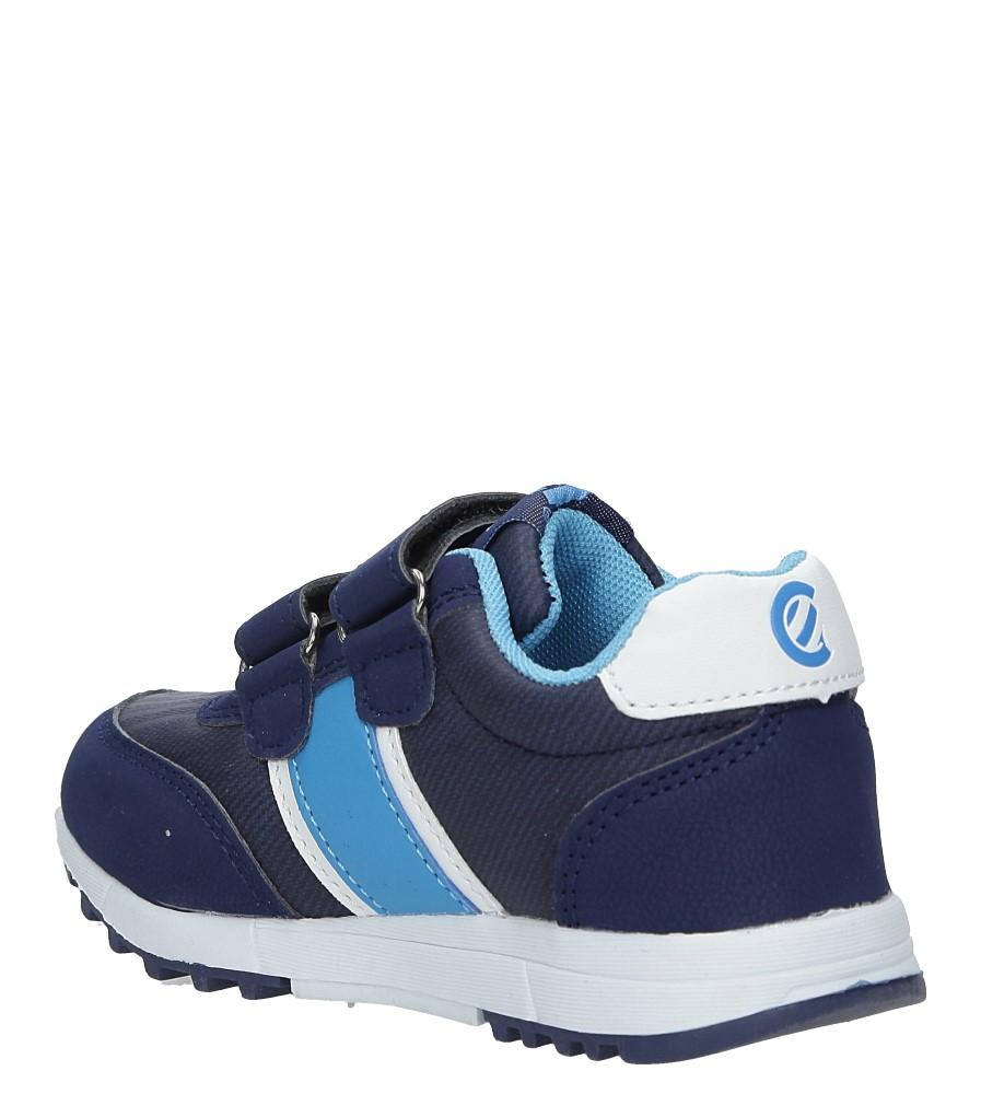 Granatowe buty sportowe na rzepy ze skórzaną wkładką Casu K-221 sezon Całoroczny