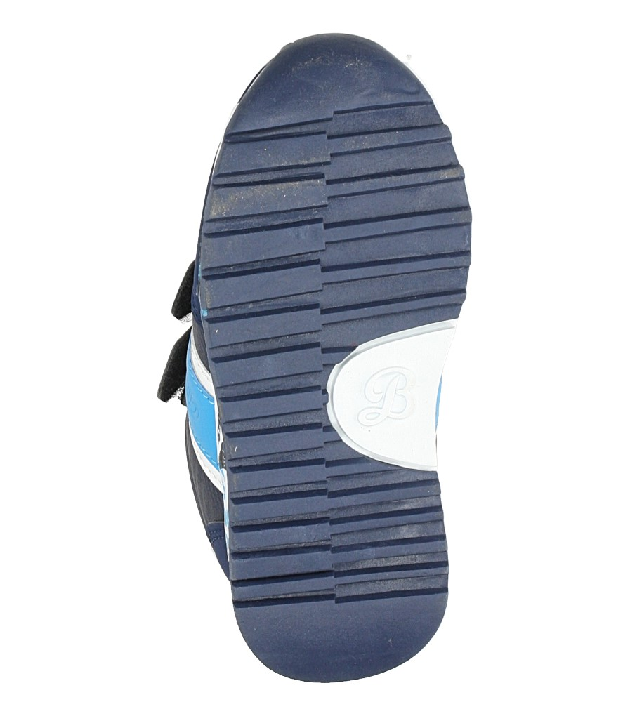 Granatowe buty sportowe na rzepy ze skórzaną wkładką Casu K-221 wysokosc_platformy 1 cm