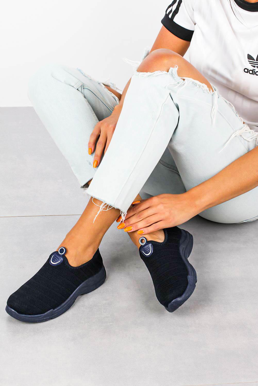 Granatowe buty sportowe slip on Casu YZ07-2 granatowy