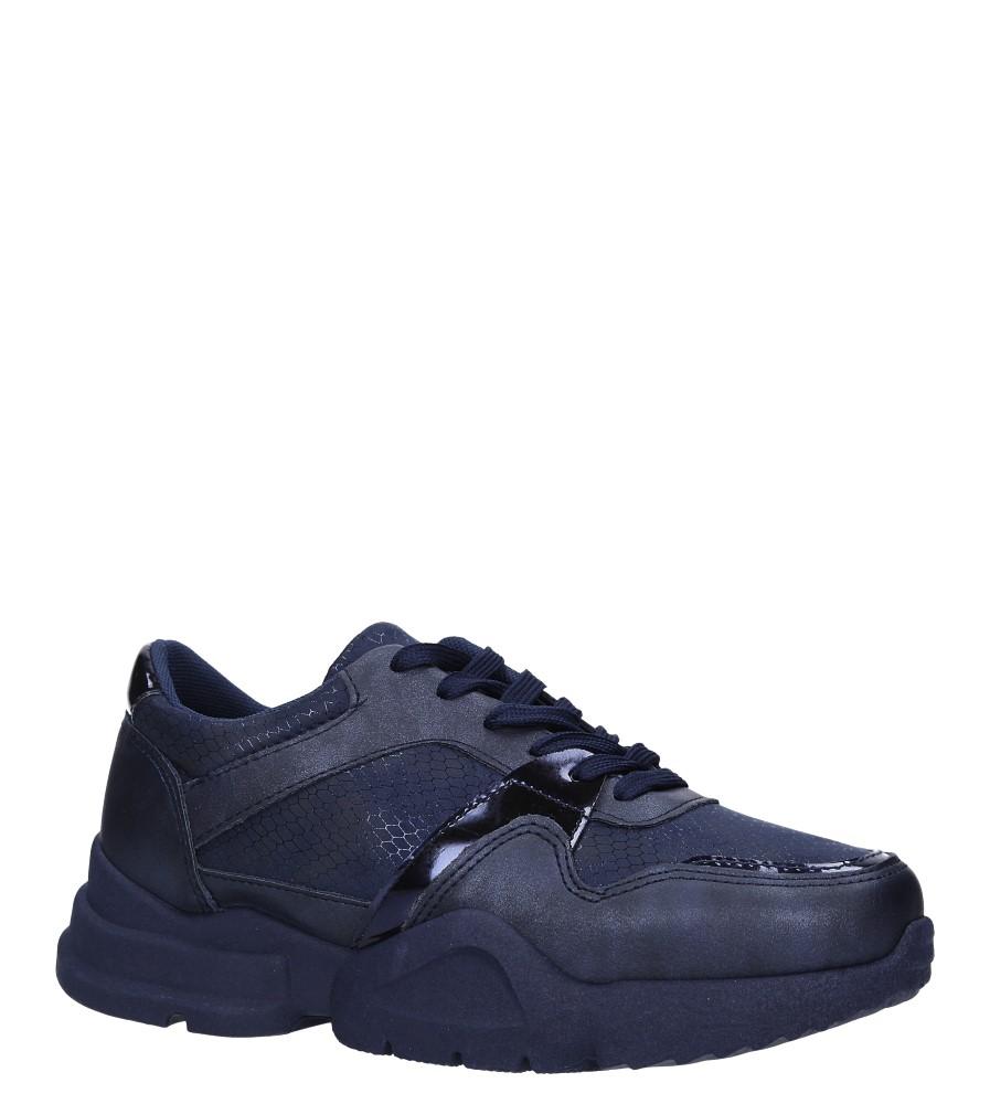 Granatowe buty sportowe sneakersy sznurowane Casu 7-K571B