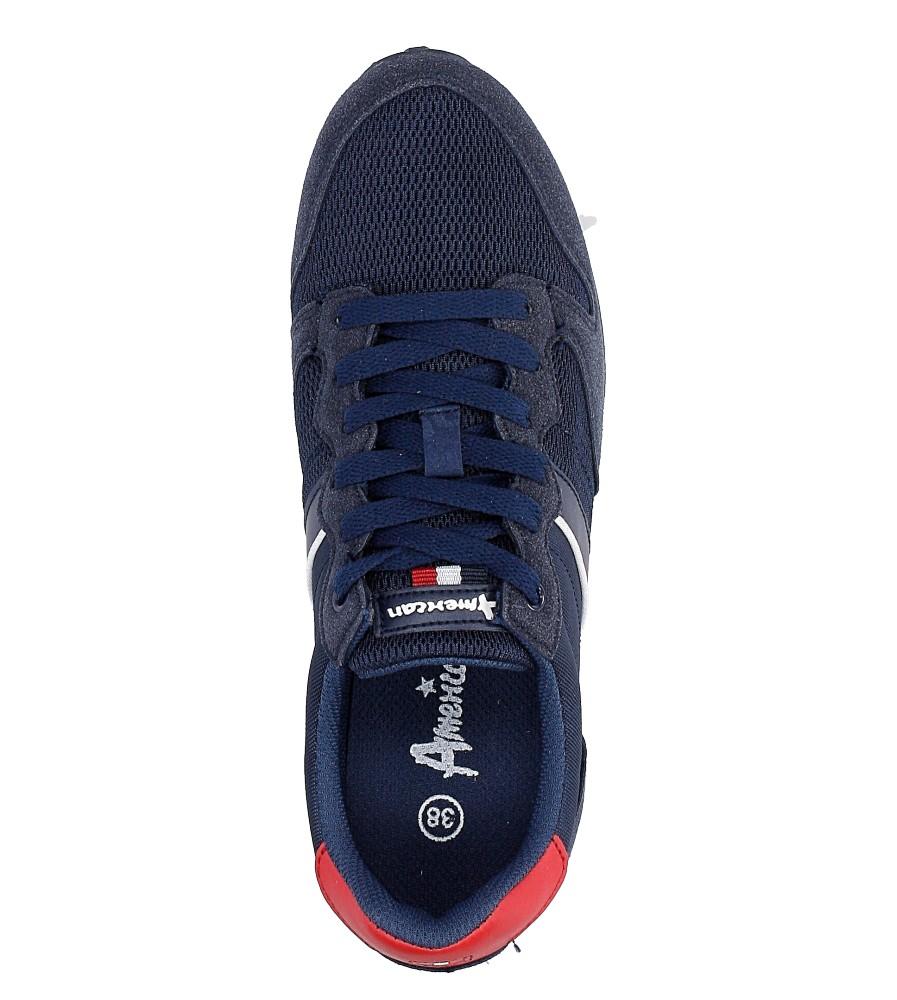 Granatowe buty sportowe sznurowane American FH17014 wysokosc_platformy 1 cm