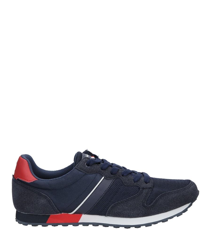 Granatowe buty sportowe sznurowane American FH17014