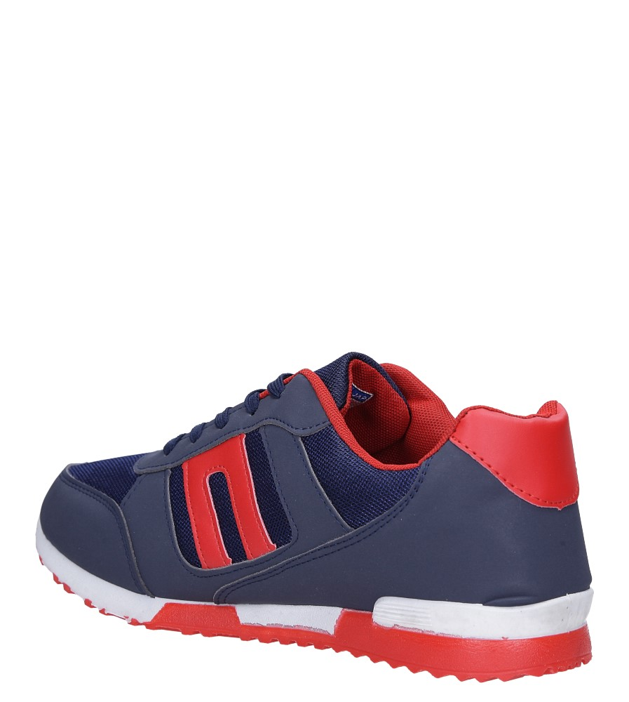 Granatowe buty sportowe sznurowane Casu 17009-27 sezon Całoroczny