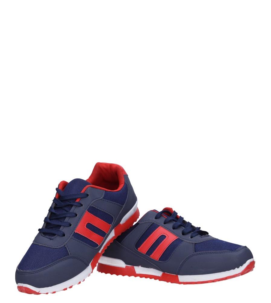 Granatowe buty sportowe sznurowane Casu 17009-27 kolor granatowy