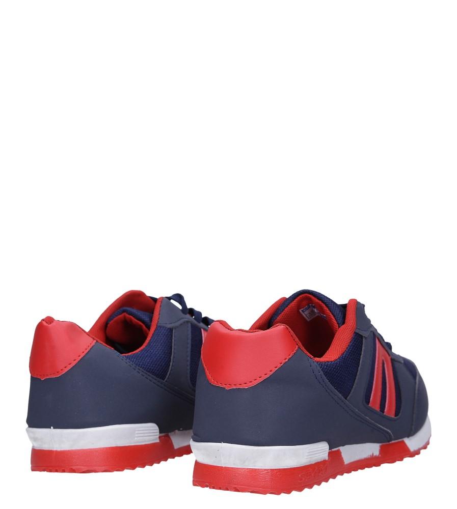 Granatowe buty sportowe sznurowane Casu 17009-27 wysokosc_platformy 1 cm