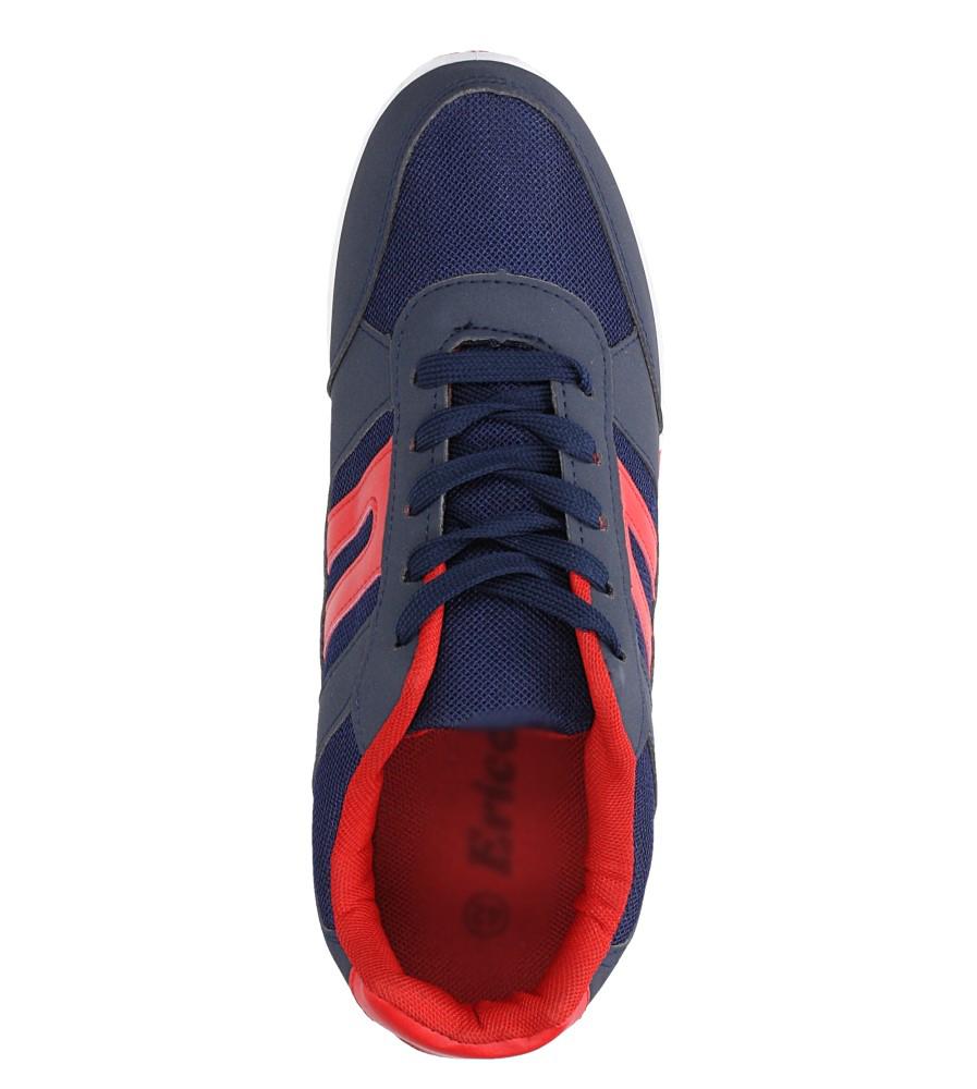 Granatowe buty sportowe sznurowane Casu 17009-27 wys_calkowita_buta 12.5 cm