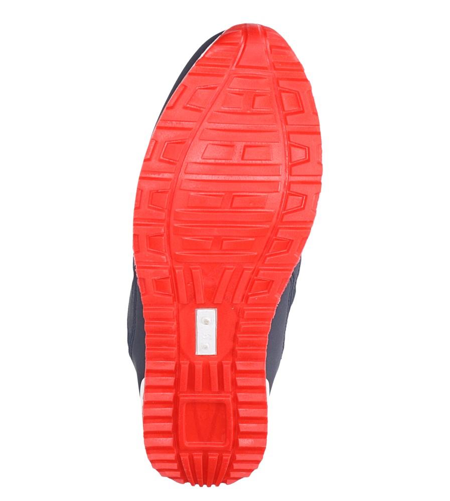 Granatowe buty sportowe sznurowane Casu 17009-27 wierzch materiał/skóra ekologiczna