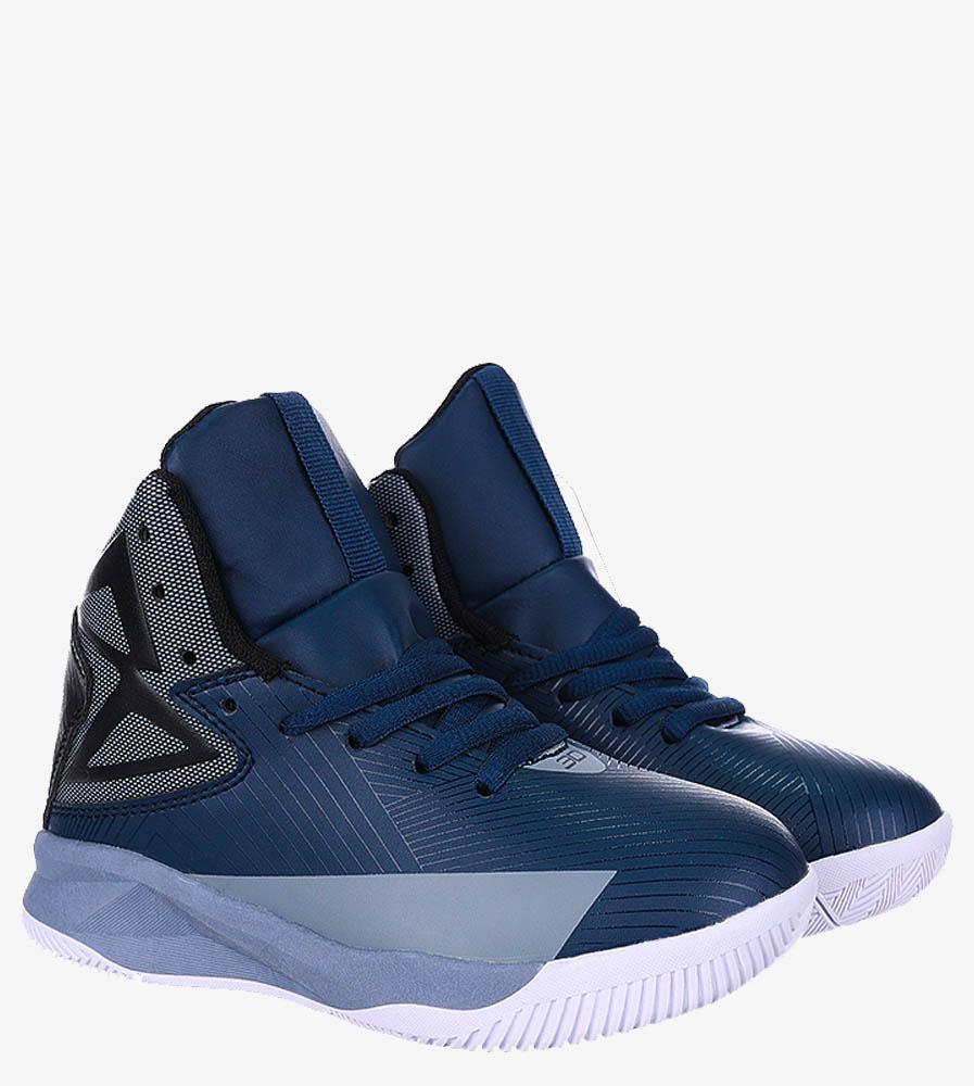 Granatowe buty sportowe sznurowane Casu 201A/BG kolor granatowy, szary