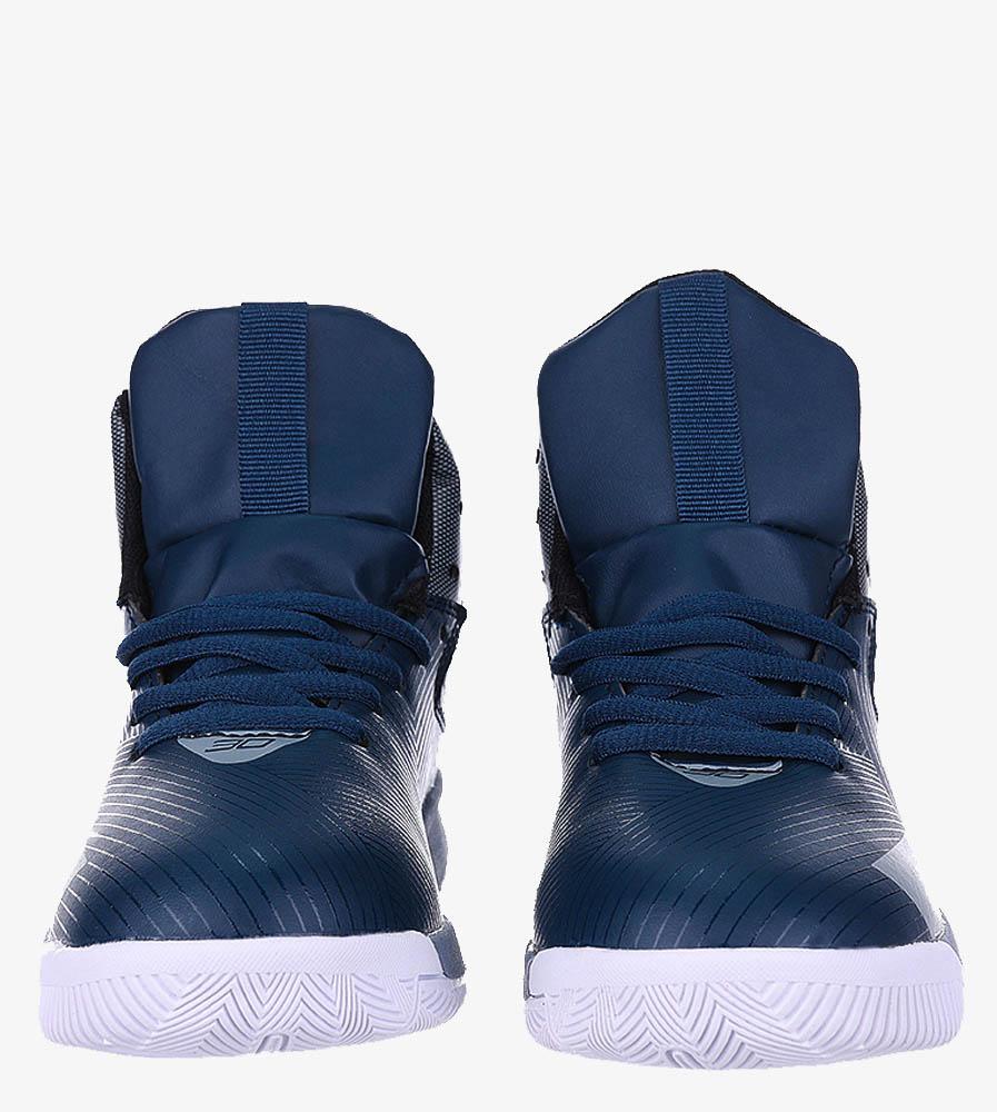 Granatowe buty sportowe sznurowane Casu 201A/BG wysokosc_platformy 2 cm