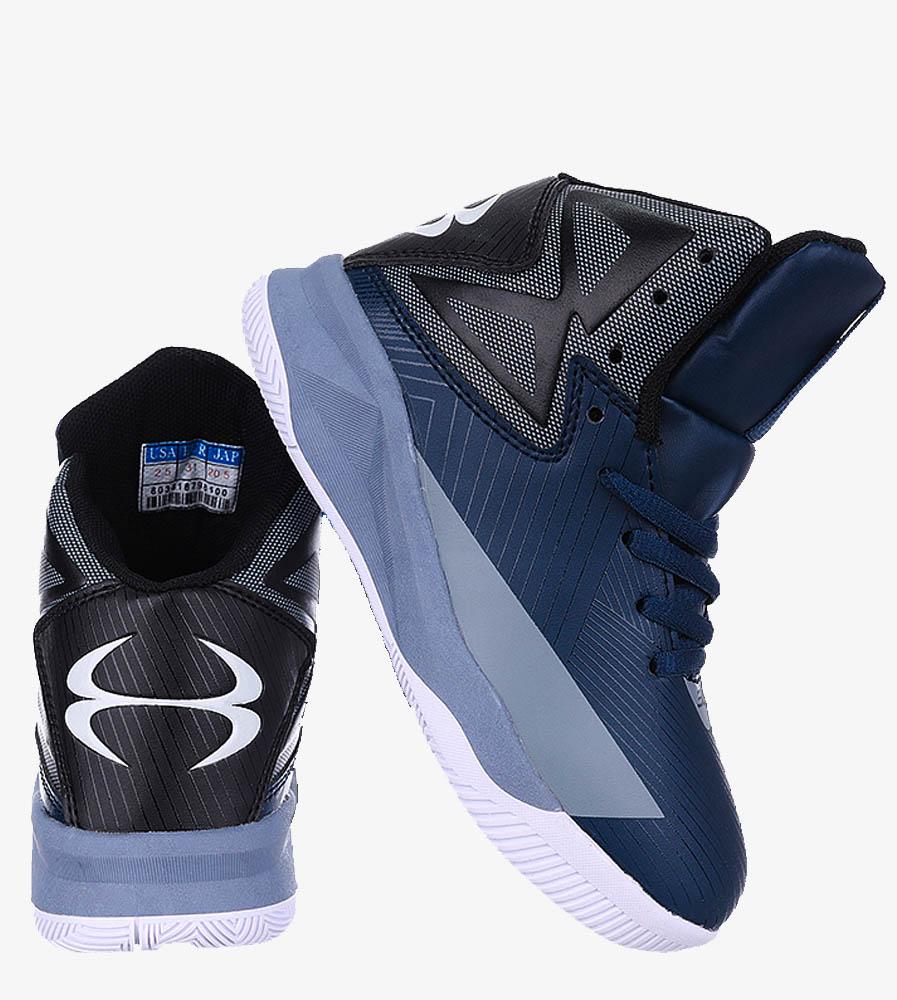 Granatowe buty sportowe sznurowane Casu 201A/BG wys_calkowita_buta 13 cm