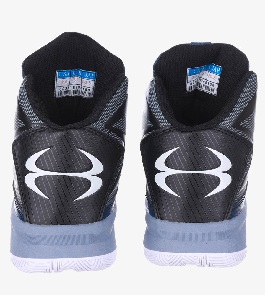 Granatowe buty sportowe sznurowane Casu 201A/BG wierzch skóra ekologiczna