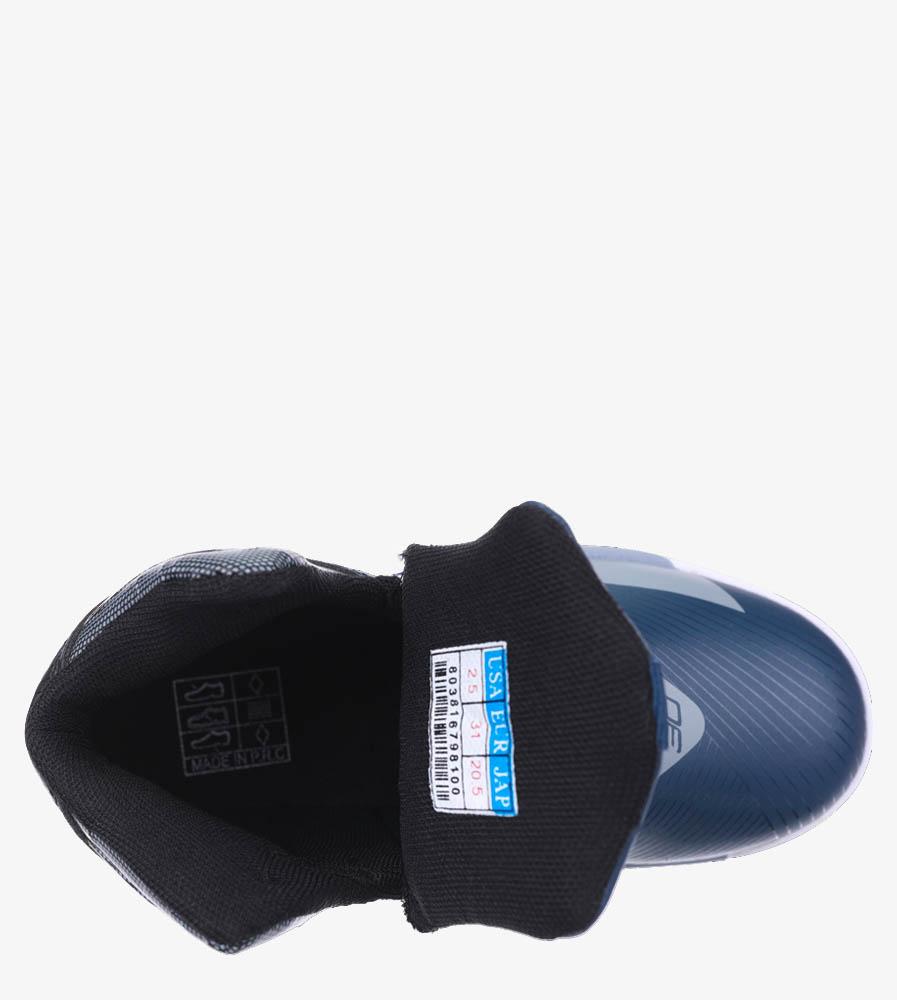 Granatowe buty sportowe sznurowane Casu 201A/BG material_obcasa wysokogatunkowe tworzywo