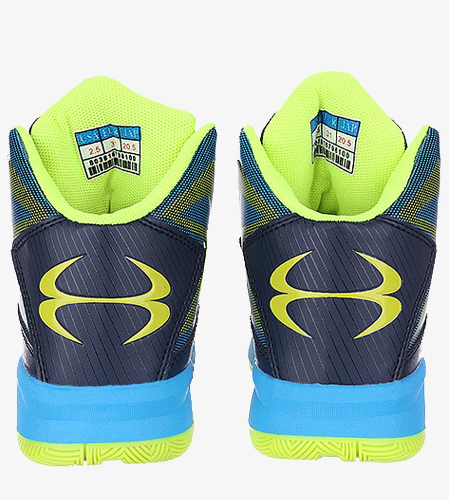 Granatowe buty sportowe sznurowane Casu 201A/BY wysokosc_platformy 2 cm