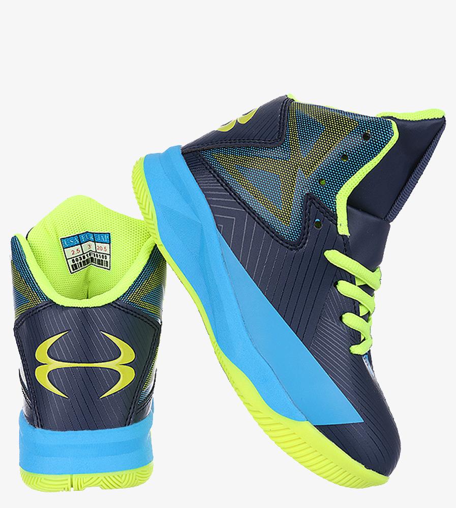 Granatowe buty sportowe sznurowane Casu 201A/BY wys_calkowita_buta 13 cm