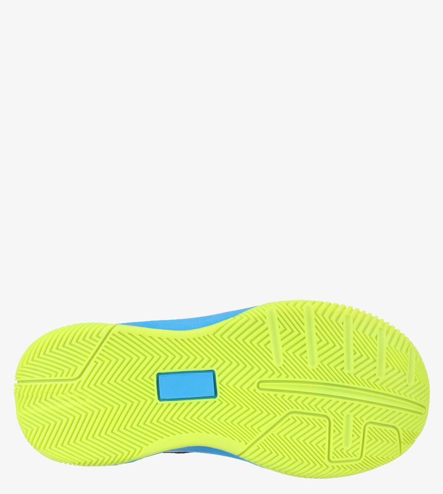 Granatowe buty sportowe sznurowane Casu 201A/BY wnetrze materiał