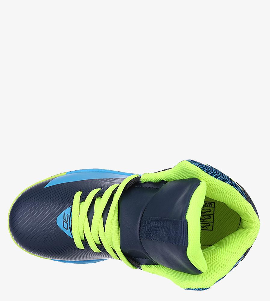 Granatowe buty sportowe sznurowane Casu 201A/BY wkladka materiał