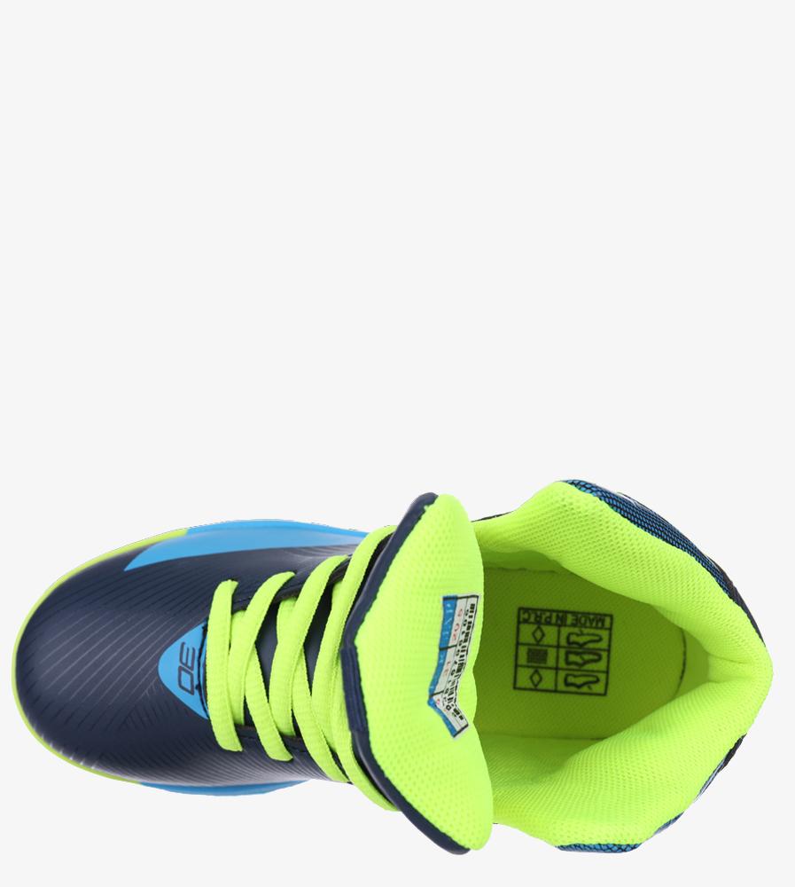 Granatowe buty sportowe sznurowane Casu 201A/BY material_obcasa wysokogatunkowe tworzywo