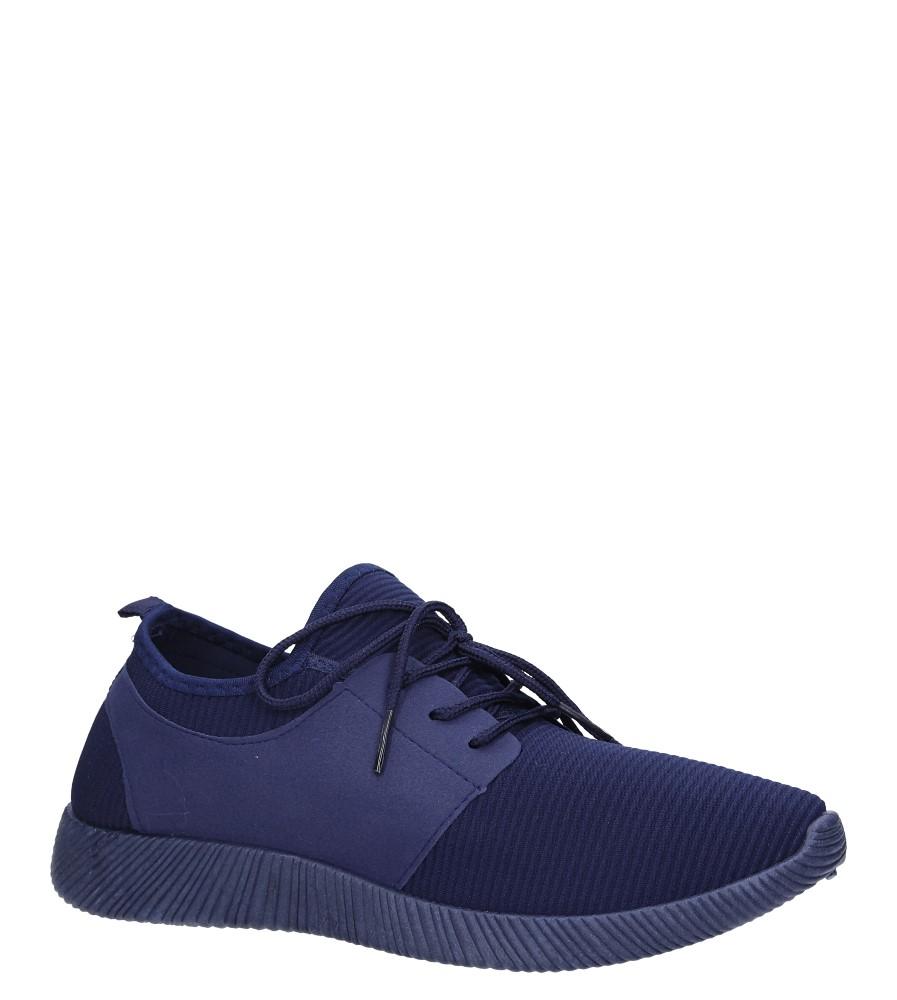 Granatowe buty sportowe sznurowane Casu 2951