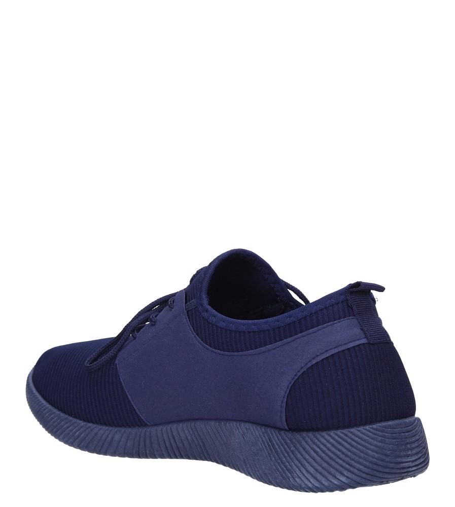 Granatowe buty sportowe sznurowane Casu 2951  sezon Całoroczny