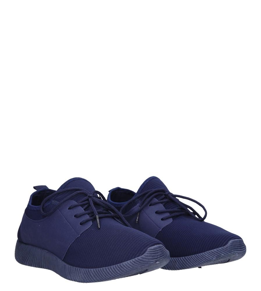 Granatowe buty sportowe sznurowane Casu 2951  kolor granatowy