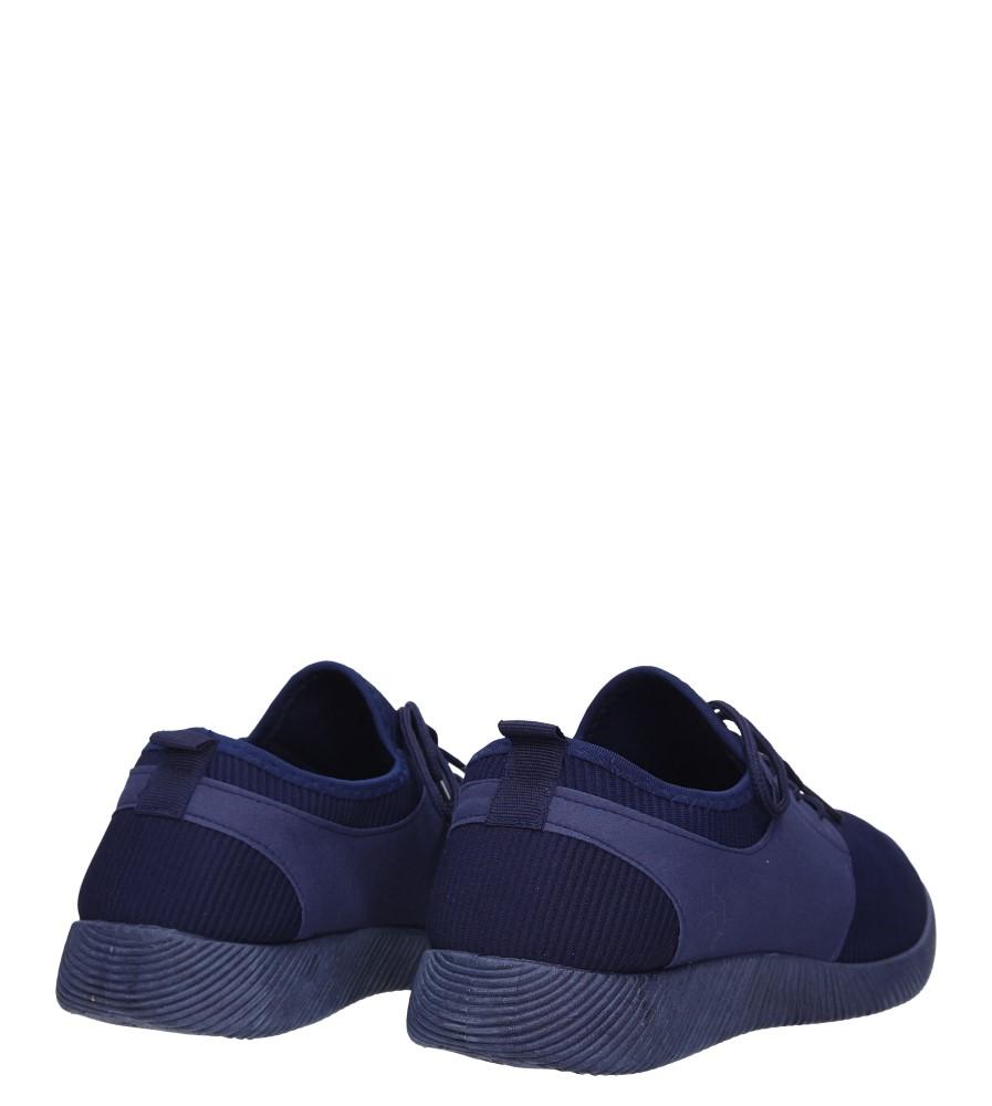 Granatowe buty sportowe sznurowane Casu 2951  wysokosc_platformy 1.5 cm