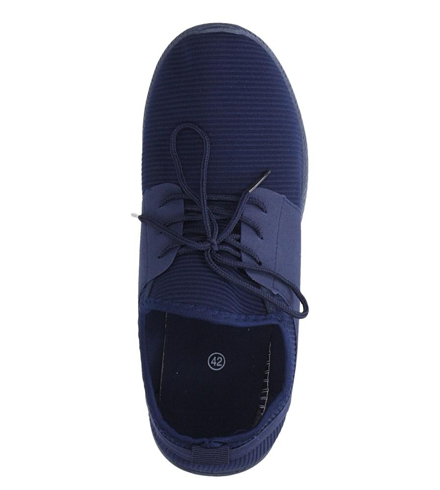 Granatowe buty sportowe sznurowane Casu 2951  wys_calkowita_buta 14.5 cm