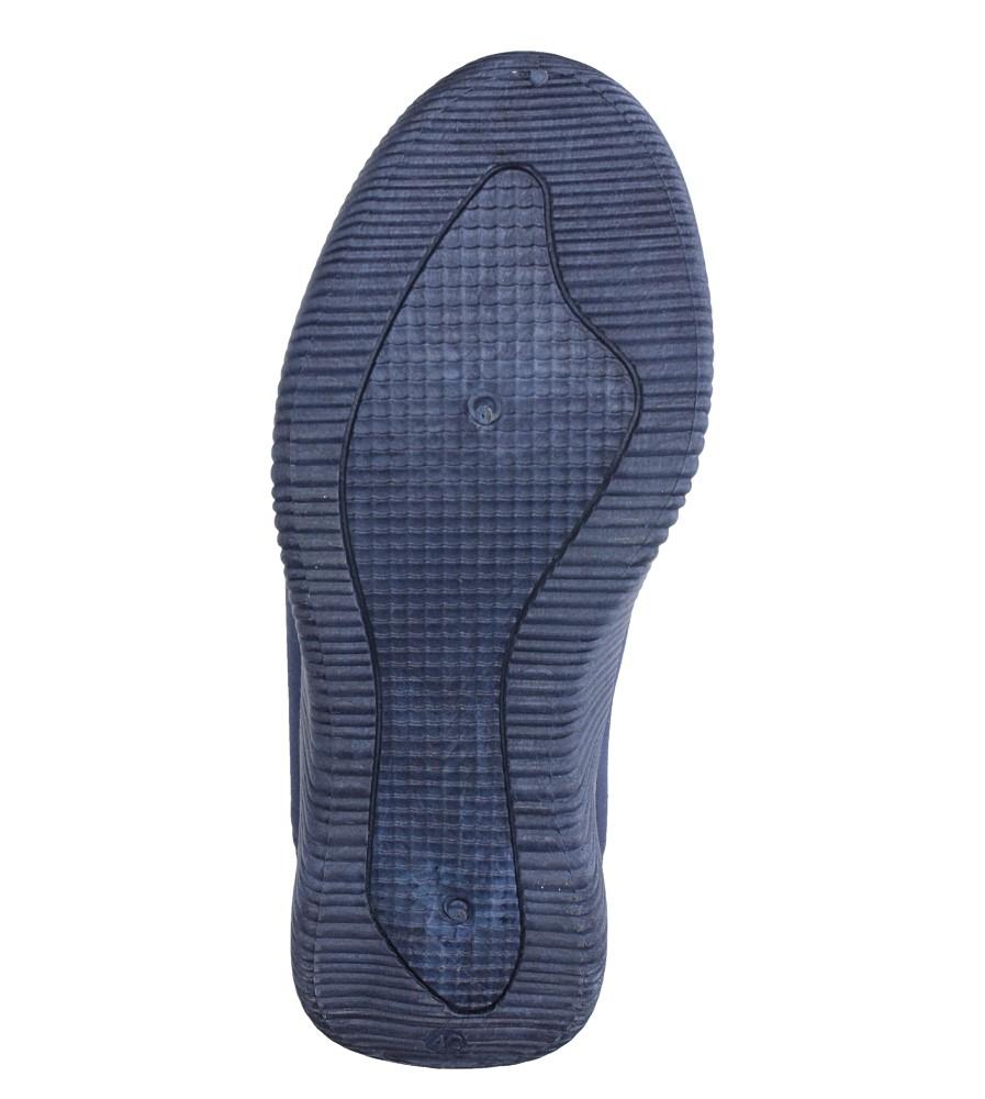 Granatowe buty sportowe sznurowane Casu 2951  wierzch materiał