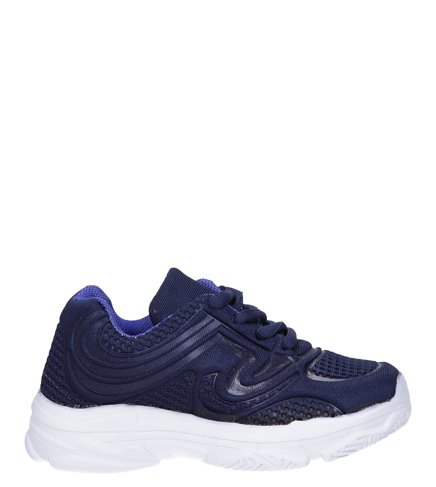 Granatowe buty sportowe sznurowane Casu 805A