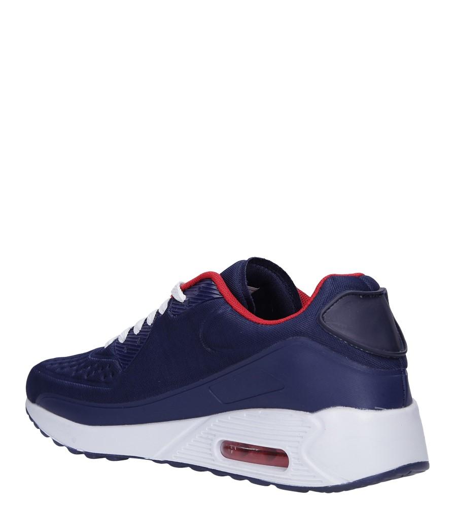 Granatowe buty sportowe sznurowane Casu 8867-1 sezon Całoroczny