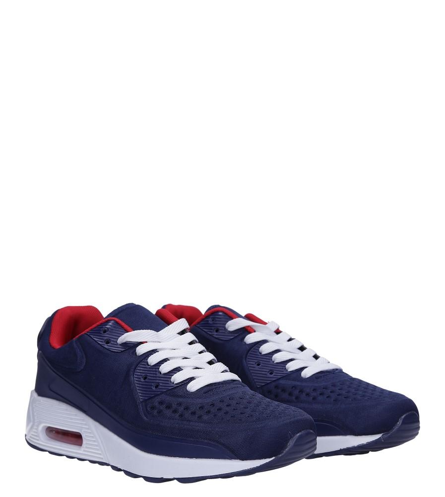 Granatowe buty sportowe sznurowane Casu 8867-1 kolor granatowy