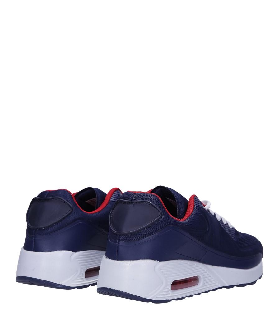 Granatowe buty sportowe sznurowane Casu 8867-1 wysokosc_platformy 1.5 cm