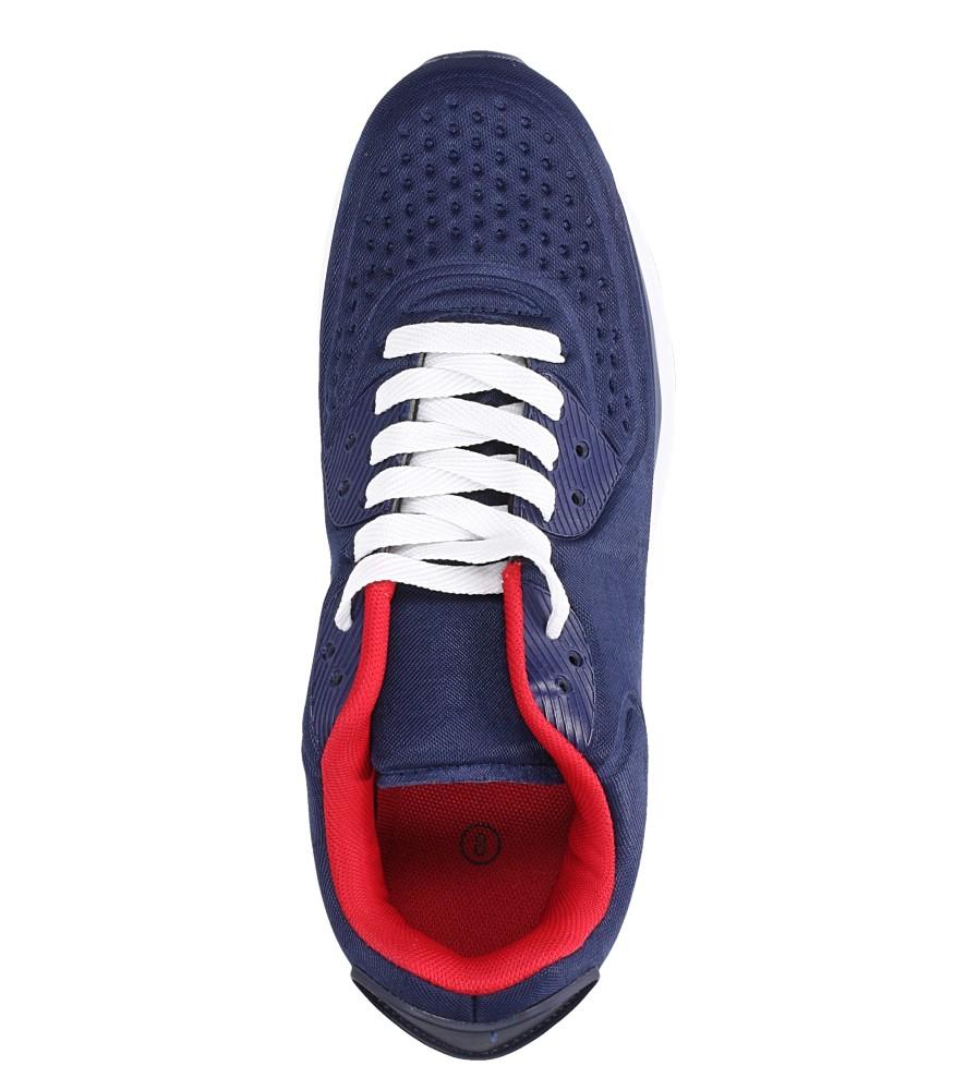 Granatowe buty sportowe sznurowane Casu 8867-1 wys_calkowita_buta 13.5 cm