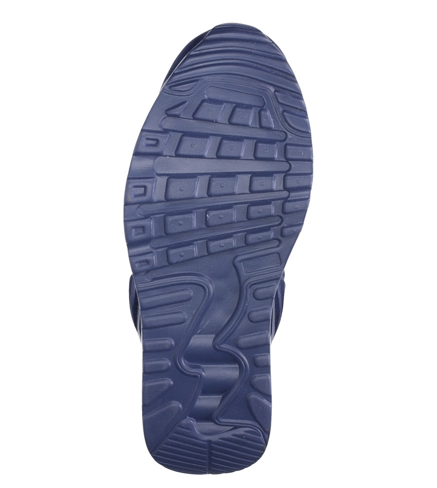 Granatowe buty sportowe sznurowane Casu 8867-1 wierzch materiał/skóra ekologiczna